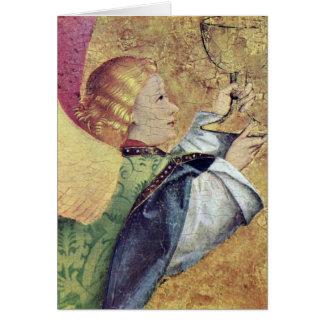 Mesmo após o anjo de voo pelo mestre de Liesborn Cartão Comemorativo