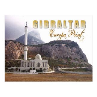 Mesquita no ponto do Europa, Gibraltar Cartão Postal