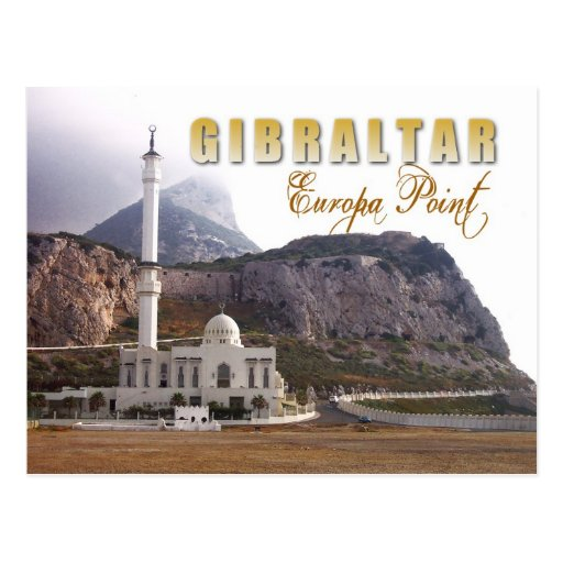 Mesquita no ponto do Europa, Gibraltar Cartoes Postais