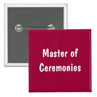 Mestre de cerimónias boton