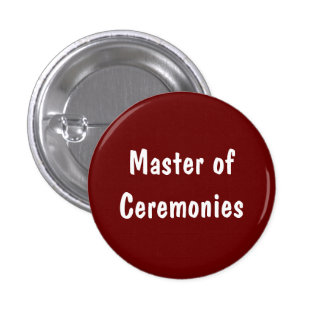 Mestre de cerimónias bóton redondo 2.54cm