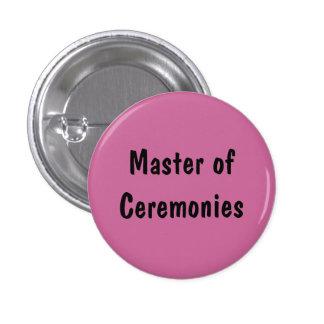 Mestre de cerimónias botons