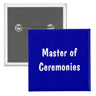 Mestre de cerimónias pins