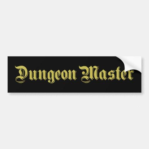 Mestre do Dungeon Adesivo