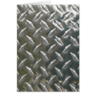 Metal de alumínio Checkerplate Cartão