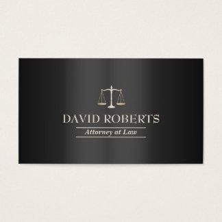 Metal escuro elegante moderno do advogado do cartão de visitas