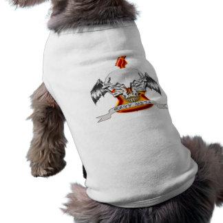 Metal pesado camisa sem mangas para cachorro