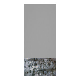 Metal pesado do ferro do Grunge 10.16 X 22.86cm Panfleto