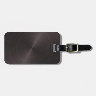Metal preto etiqueta de mala