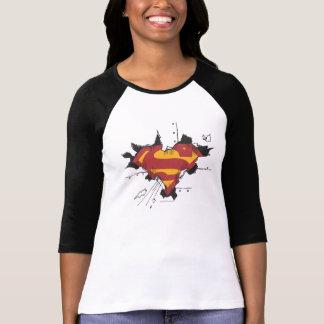Metal quebrado superman t-shirts