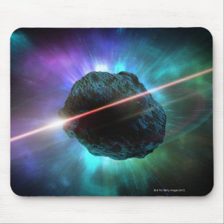Meteoro no espaço mouse pad