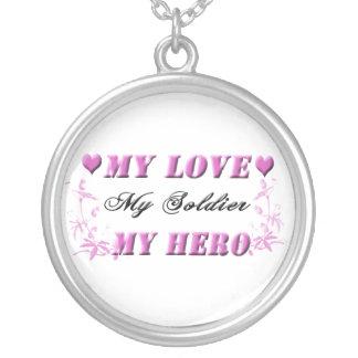 Meu amor meu soldado minha colar do herói