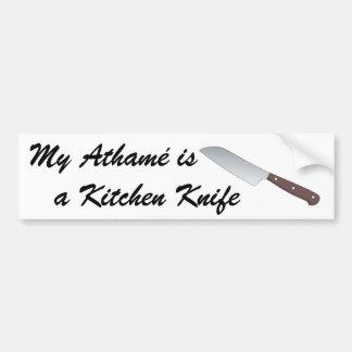 Meu Athamé é uma faca de cozinha Adesivo Para Carro