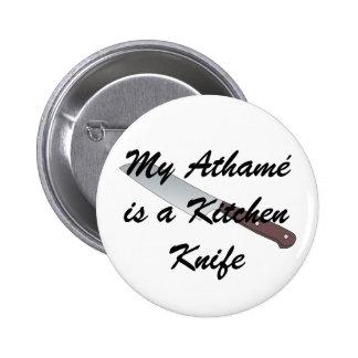 Meu Athamé é uma faca de cozinha Bóton Redondo 5.08cm