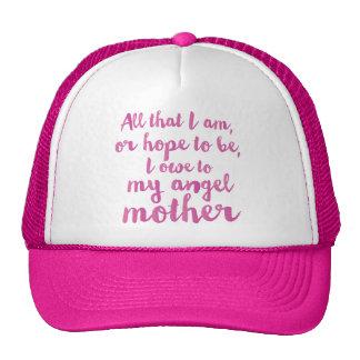 Meu boné do dia das mães do anjo