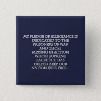 Meu botão do dia de veteranos da garantia bóton quadrado 5.08cm