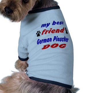 Meu cão alemão do Pinscher do melhor amigo Camisa Ringer Para Cachorro