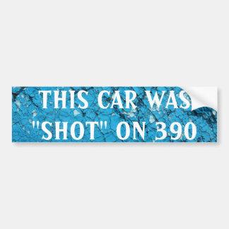 Meu carro foi disparado em 390 adesivo para carro