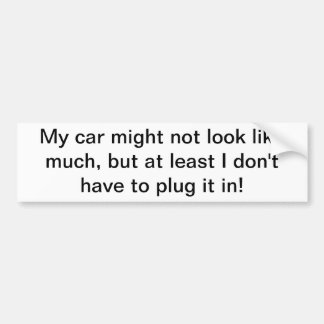 Meu carro não pôde olhar como muita etiqueta adesivo para carro