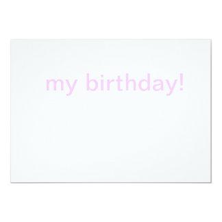 meu cartão de aniversário convite 12.7 x 17.78cm
