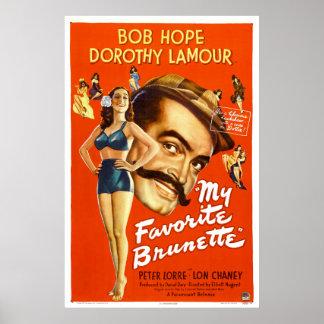 """""""Meu cartaz cinematográfico do vintage do Brunette Impressão"""