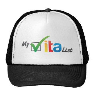 Meu chapéu da lista de Vita Boné