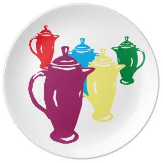 Meu Coffeepot favorito - um complemento da coleção Prato De Porcelana