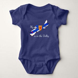 Meu coração é a camisa do bebê de Nova Escócia do