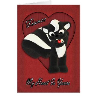 Meu coração é seu, jaritataca pequena bonito com cartão