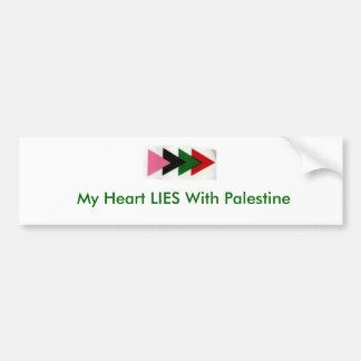 Meu coração ENCONTRA-SE com Palestina Adesivo Para Carro
