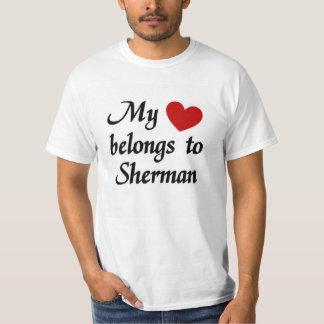 Meu coração pertence a Sherman Tshirts