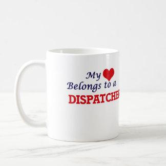 Meu coração pertence a um expedidor caneca de café