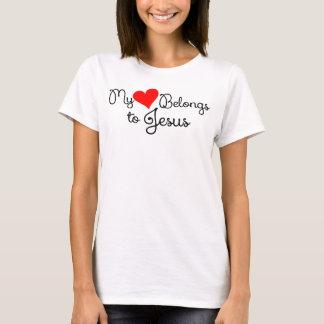 """""""Meu coração pertence t-shirt de Jesus"""""""