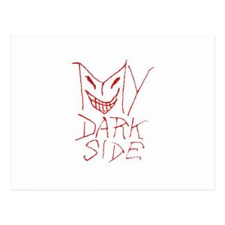 Meu design tipográfico do lado escuro cartão postal