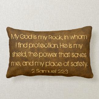 Meu deus é meu travesseiro do verso da bíblia da almofada lombar