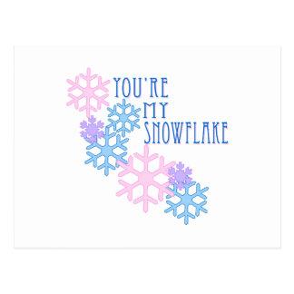 Meu floco de neve cartão postal