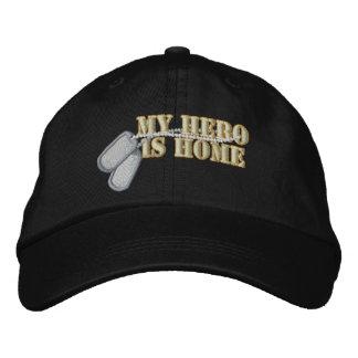 Meu herói é casa boné bordado