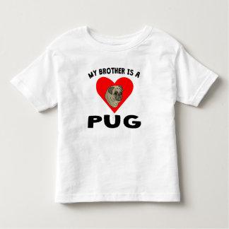 Meu irmão é um Pug Camisetas