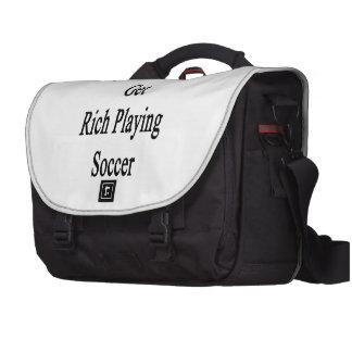 Meu irmão obterá rico jogando o futebol mala para notebook
