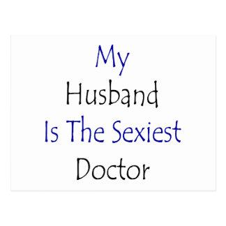 Meu marido é o doutor o mais sexy cartão postal