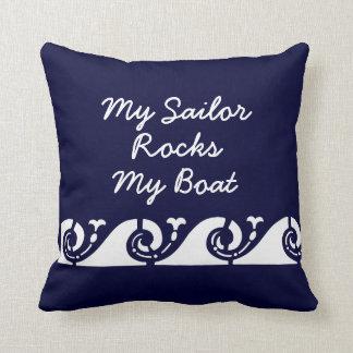 Meu marinheiro balança meu barco almofada