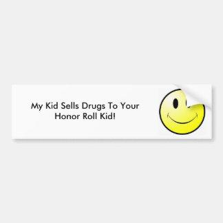 Meu miúdo vende drogas a seu miúdo do quadro de ho adesivo para carro