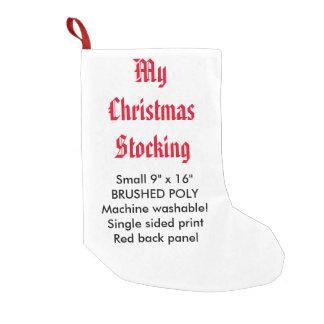 Meu Natal poli feito sob encomenda que armazena Bota De Natal Pequena