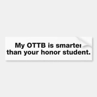 Meu OTTB é mais esperto do que seu estudante da ho Adesivo Para Carro