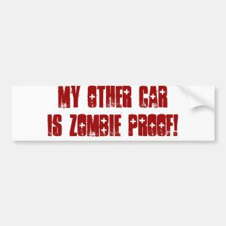 Meu outro carro é prova do zombi adesivo para carro
