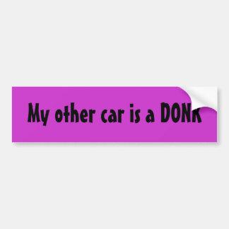 Meu outro carro é um DONK Adesivo Para Carro