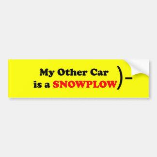 Meu outro carro é um SNOWPLOW Adesivo Para Carro