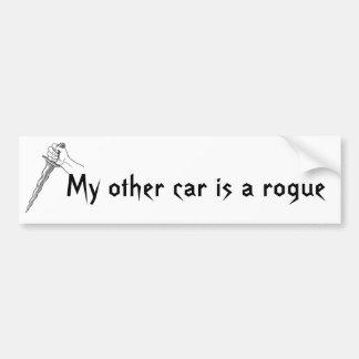 Meu outro carro é um trapaceiro adesivo para carro