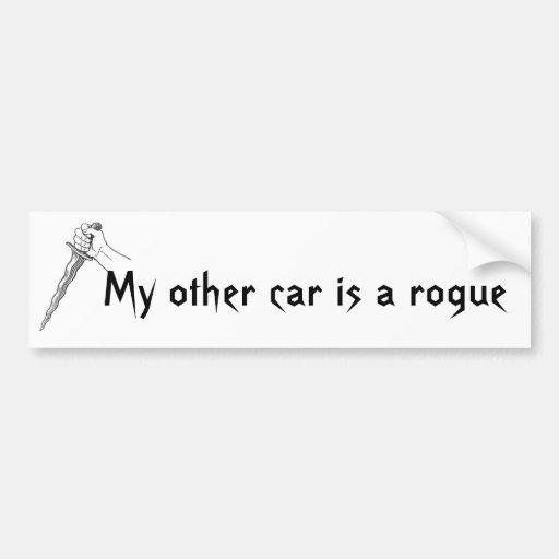 Meu outro carro é um trapaceiro adesivos