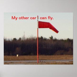 Meu outro carro pode voar posteres